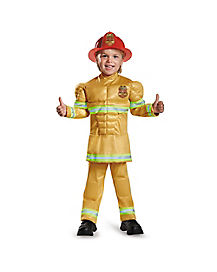 Toddler Muscle Fireman Costume