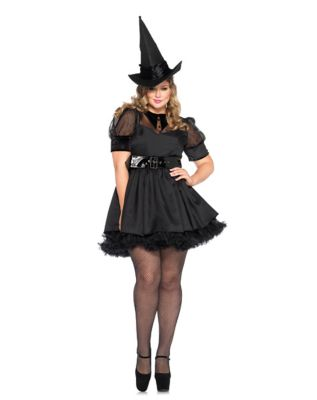 1950s Costumes- Poodle Skirts, Grease, Monroe, Pin Up, I Love Lucy Plus Size Adult Bewitching Witch Costume by Spirit Halloween $54.99 AT vintagedancer.com