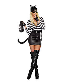 adult cat burglar costume - Girls Cop Halloween Costume