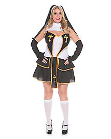 Adult Flirty Nun Plus Size Costume