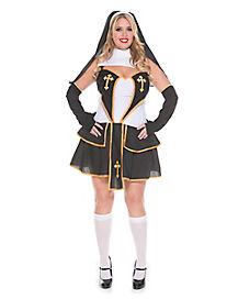 Adult Flirty Nun Plus Size Costume  sc 1 st  Spirit Halloween & Priest - Spirithalloween.com