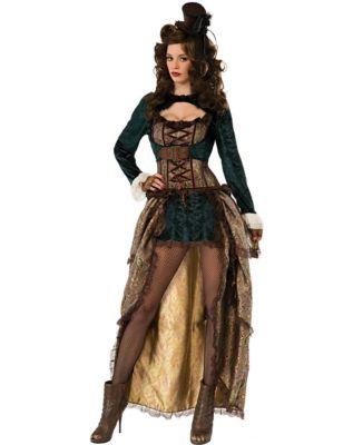 Steampunk Dresses | Women & Girl Costumes Adult Madame Steampunk Costume by Spirit Halloween $69.99 AT vintagedancer.com