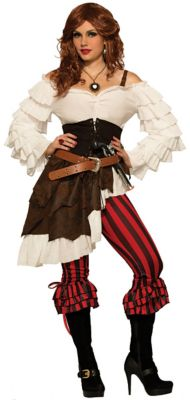 Steampunk Dresses | Women & Girl Costumes Adult Renegade Ruby Pirate Costume by Spirit Halloween $69.99 AT vintagedancer.com