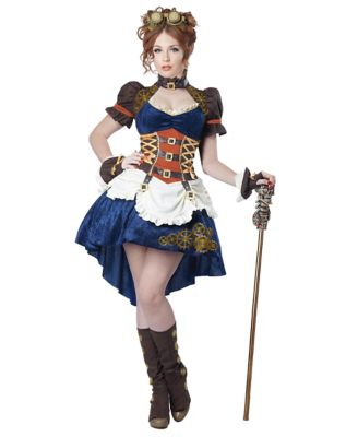 Steampunk Dresses | Women & Girl Costumes Plus Size Steampunk Fantasy Adult Womens Costume by Spirit Halloween $59.99 AT vintagedancer.com