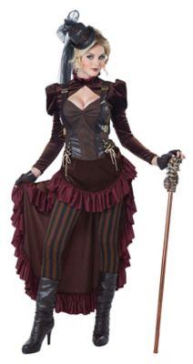Steampunk Dresses | Women & Girl Costumes Adult Victorian Steampunk Costume $89.99 AT vintagedancer.com