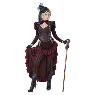 Victorian Steampunk Clothing & Costumes for Ladies Adult Victorian Steampunk Costume $89.99 AT vintagedancer.com