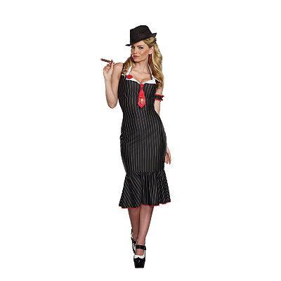 1930s Costumes- Bride of Frankenstein, Betty Boop, Olive Oyl, Bonnie & Clyde Adult Deadly Dames Costume $64.99 AT vintagedancer.com