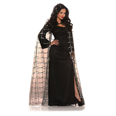 Edwardian Style Clothing Spiderweb Cape with Hood $19.99 AT vintagedancer.com