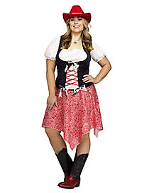 adult hoedown honey plus size costume