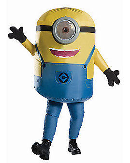 Adult Minions Stuart Inflatable Costume - Despicable Me