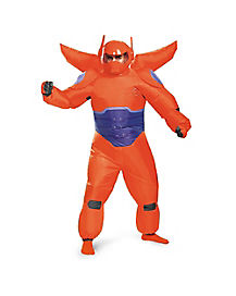 Adult Red Baymax One Piece Inflatable Costume - Big Hero 6