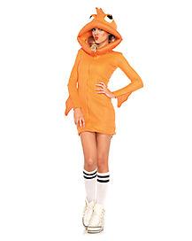 Adult Cozy Dress Goldfish Costume