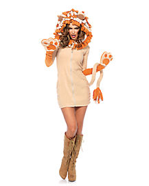 Adult Cozy Dress Lion Costume