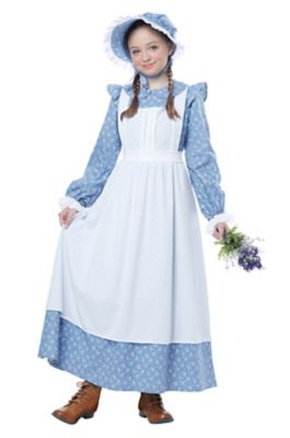 Victorian Kids Costumes & Shoes- Girls, Boys, Baby, Toddler Kids Pioneer Girl Costume by Spirit Halloween $36.99 AT vintagedancer.com