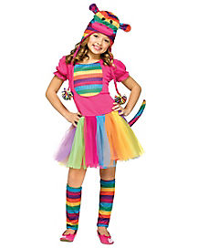 Kids Rainbow Sock Monkey Costume
