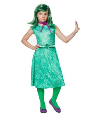 60s 70s Kids Costumes & Clothing Girls & Boys Kids Disgust Costume - Inside Out by Spirit Halloween $29.99 AT vintagedancer.com