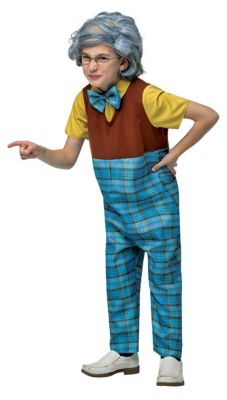 60s 70s Kids Costumes & Clothing Girls & Boys Kids Grandpa One Piece Costume by Spirit Halloween $39.99 AT vintagedancer.com