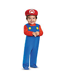 Baby Mario One Piece Costume - Mario Bros