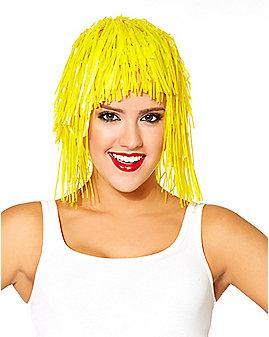 Yellow Tinsel Wig