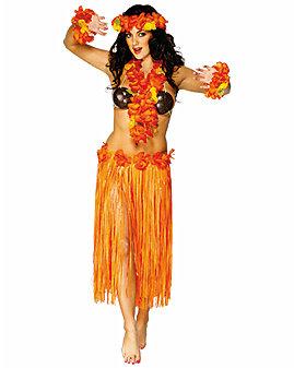 Orange Hula Skirt