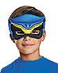 Kids Blue Puff Power Rangers Mask - Power Rangers Dino Charge