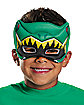 Kids Green Puff Power Rangers Mask - Power Rangers Dino Charge