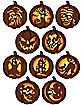 Stick 'n Carve Pumpkin Patterns