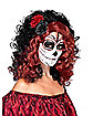Day of the Dead Red and Black Wig