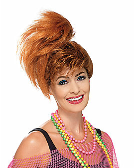 80s Side Pony Tail With Fringe Wig