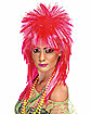 Hot Pink Rock Diva Wig