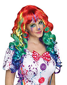 Rainbow Wig With Bangs