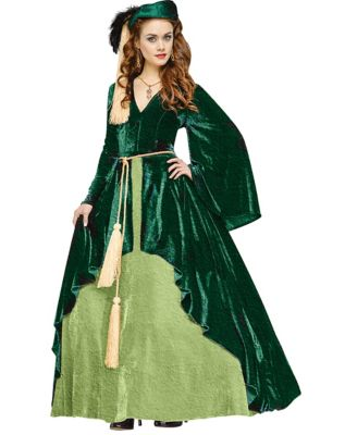 Steampunk Dresses | Women & Girl Costumes Adult Scarlett OHara Curtain Dress Costume - Gone with the Wind by Spirit Halloween $189.99 AT vintagedancer.com