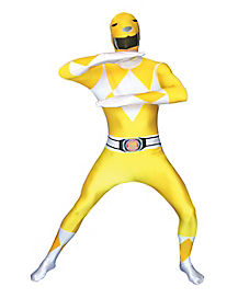 Adult Yellow Ranger Skin Suit Costume - Power Rangers