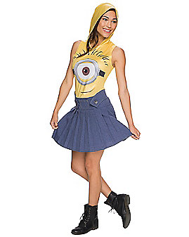 Adult Hooded Minions Costume - Minions Movie