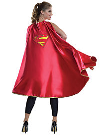 Adult Supergirl Cape Deluxe - DC Comics