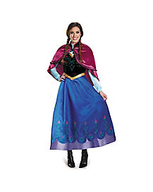 Adult Anna Frozen Theatrical Costume - Disney  sc 1 st  Spirit Halloween : disney frozen costume for adults  - Germanpascual.Com