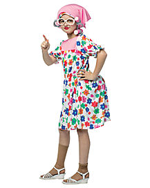 Kids Granny Dress Costume