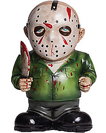 jason lawn gnome decorations friday the 13th - Freddy Krueger Halloween Decorations