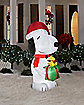 5.5 Ft Snoopy Holding Present Inflatable - Decorations