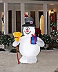 Frosty with Present and Broom Inflatable - Decoration