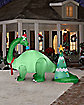 7 ft Giant Brontosaurus and Christmas Tree Inflatable - Decoration