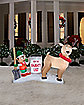 4.5 Ft Reindeer Clean Up Scene Inflatable - Decoration