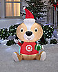 5 Ft Holiday Puppy Inflatable - Decoration