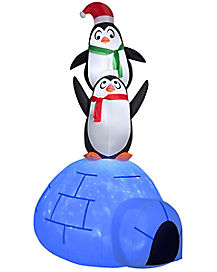 3.5 Ft Penguin Igloo Party Inflatable - Decoration