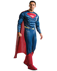 Adult Superman One Piece Costume - Batman v Superman: Dawn Of Justice