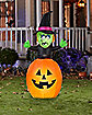 5 Ft Animated Pop Up Witch In Pumpkin Inflatable - Decorations