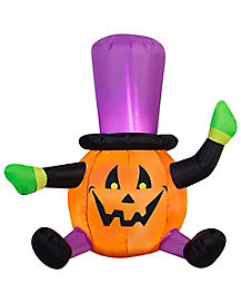 3 Ft Light Up Pumpkin Inflatable - Decorations