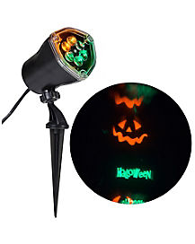 Whirl-A-Motion LED Green/Orange Pumpkin Projection Light