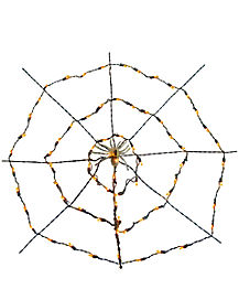 Orange Spider Web Light Set - Decorations