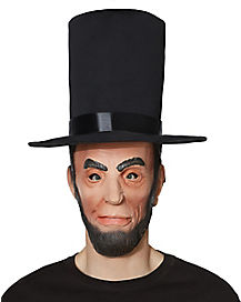 Adult Abe Lincoln Mask with Hat